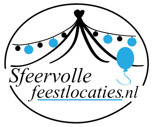 sfeervollefeestlocaties logo met wit ovaal